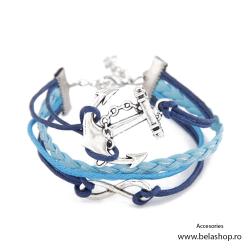 Bratara Light Blue Layers