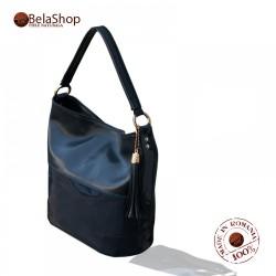 GEANTA PIELE NATURALA MC 111- Blue Shiny Leather