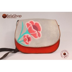GEANTA SOFIA BEIGE&RED MAC