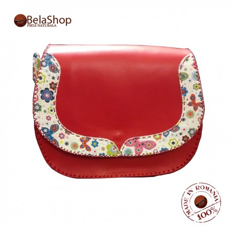 GEANTA FELICIA RED&FLOWERS