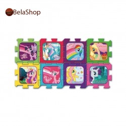 Covoras puzzle din spuma 8 buc My Little Pony