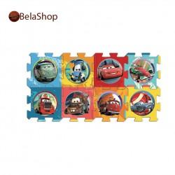 Covoras puzzle din spuma 8 buc Cars