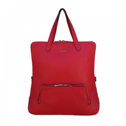 GEANTA DIN PIELE NATURALA Josephine - Red Soft Leather