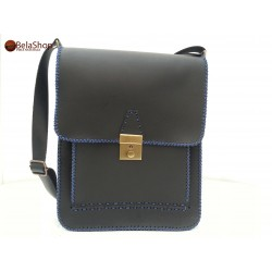 GEANTA BUSINESS BLACK-BLUE CHEY