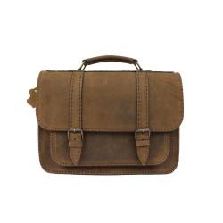 Servieta din piele naturala Postman Vintage Brown 2L