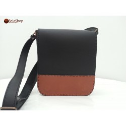 GEANTA TOMMY BLACK&BROWN LIGHT