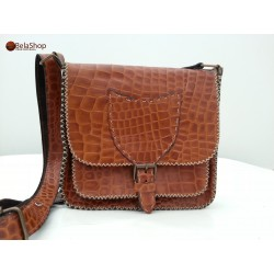 GEANTA SOFIA BROWN CROCO