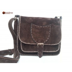 GEANTA SOFIA DARK BROWN FIN