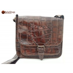GEANTA SOFIA BROWN CROCO L