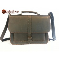 GEANTA POSTMAN DARK BROWN NAB N