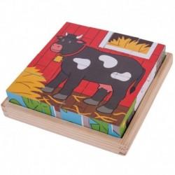 Puzzle cubic - Animalute de la ferma