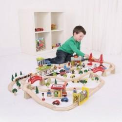 Circuit auto si  feroviar  (125 piese)