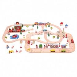 Circuit auto si feroviar (101 piese) - Orasul