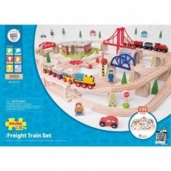 Circuit cu tren marfar (133 piese)