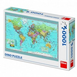 Puzzle - Harta politica a lumii (1000 piese)