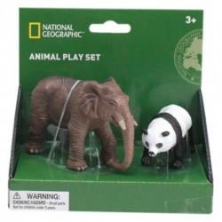 Set 2 figurine - Elefant si Urs Panda