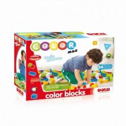 Cuburi colorate de construit - 56 piese