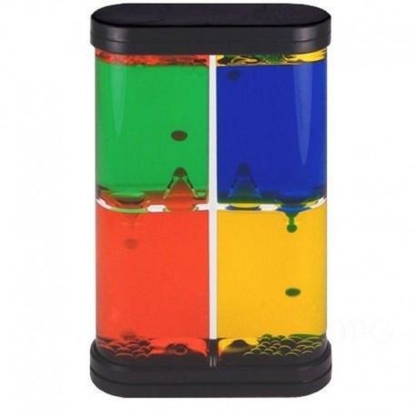 Clepsidra cu lichid colorat