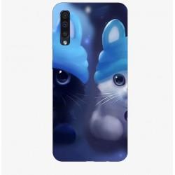 Husa Silicon Soft, 2 Kitties, Samsung Galaxy A50
