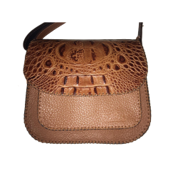 Geanta din piele naturala N05 Brown Croco