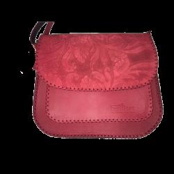Geanta din piele naturala N05 Red FR