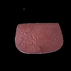 Geanta din piele naturala N03 Caramiziu&Corai