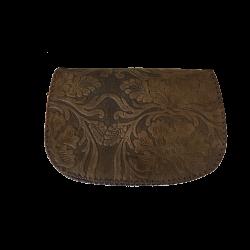 Geanta din piele naturala N03 Vintage Dark Brown