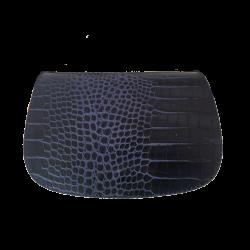 Geanta din piele naturala N03B Blue Crocco
