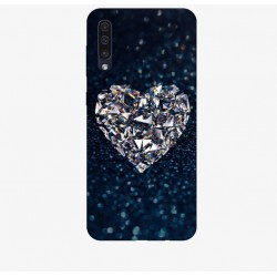 Husa Silicon Soft BS Print, Diamond Heart, Samsung Galaxy A50