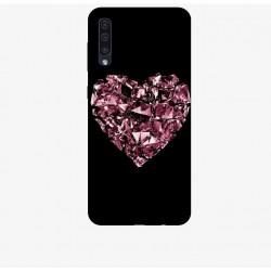 Husa Silicon Soft BS Print, Diamond Heart1, Samsung Galaxy A50