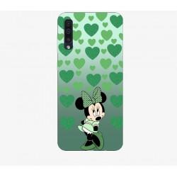 Husa Silicon Soft BS Print, Green Minnie, Samsung Galaxy A50