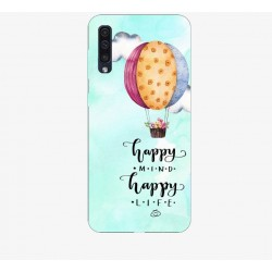 Husa Silicon Soft BS Print, Happy, Samsung Galaxy A50