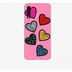 Husa Silicon Soft BS Print, Hearts, Samsung Galaxy A50