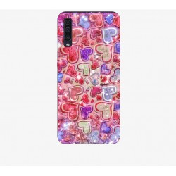 Husa Silicon Soft BS Print, Hearts3, Samsung Galaxy A50