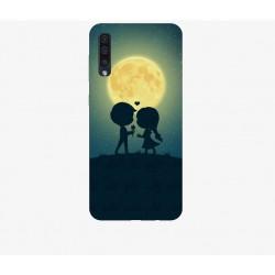 Husa Silicon Soft BS Print, Moon, Samsung Galaxy A50
