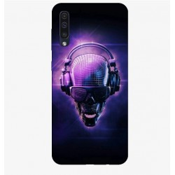 Husa Silicon Soft BS Print, Music Skull, Samsung Galaxy A50
