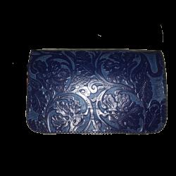 Geanta din piele naturala N04 Blue PR