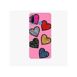 Husa Silicon Soft BS Print, Hearts, Huawei P30 Lite