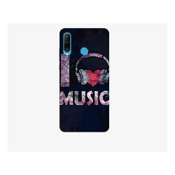 Husa Silicon Soft BS Print, I live music, Huawei P30 Lite