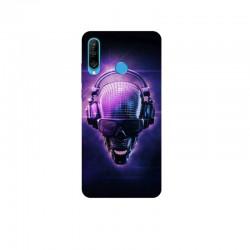 Husa Silicon Soft BS Print, Music Skull, Huawei P30 Lite