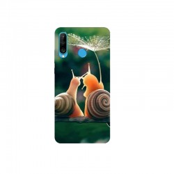 Husa Silicon Soft BS Print, Snails, Huawei P30 Lite