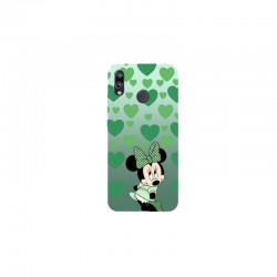 Husa Silicon Soft BS Print, Green Minnie, Huawei P20 Lite