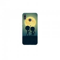 Husa Silicon Soft BS Print, Moon, Huawei P20 Lite