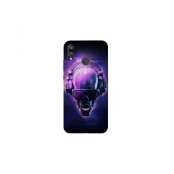 Husa Silicon Soft BS Print, Music Skull, Huawei P20 Lite