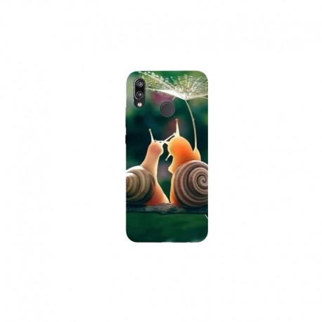 Husa Silicon Soft BS Print, Snails, Huawei P20 Lite