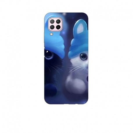 Husa Silicon Soft BS Print, 2 Kitties, Huawei P40 Lite