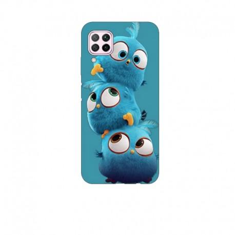 Husa Silicon Soft BS Print, 3 Birds, Huawei P40 Lite