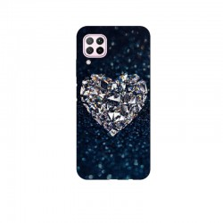 Husa Silicon Soft BS Print, Diamond Heart, Huawei P40 Lite