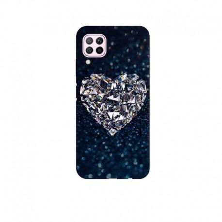 Husa Silicon Soft BS Print, Diamond Heart, Huawei P40 Lite