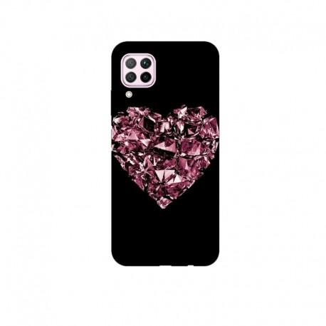Husa Silicon Soft BS Print, Diamond Heart1, Huawei P40 Lite